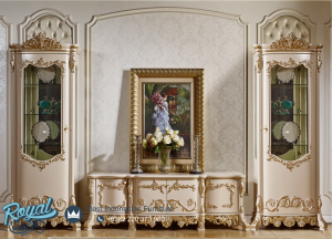 Model Bufet Tv Mewah Ukiran Klasik Jepara Imperial Terbaru