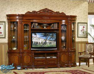 Model Bufet Tv Lemari Hias Kayu Jati Jepara Terbaru Davinci Eropan