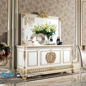 Meja Konsol Mewah Modern Ukiran Jepara French Racoco Putih Duco Terbaru