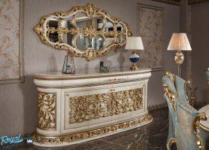 Meja Konsul Cermin Mewah Klasik Ukir Jepara Turky Design Terbaru