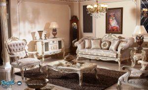 Sofa Ruang Tamu Modern Mewah Ukir Jepara Terbaru Italian New Design