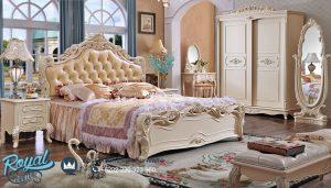 Kamar Tidur Modern Putih Duco Ukiran Jepara Bruge