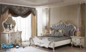 Tempat Tidur Modern Warna Putih Baroko