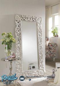 Cermin Ukir Hias Dinding Putih Antique
