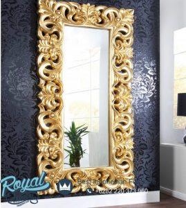 Gambar Pigura Cermin Ukir Jepara Gold
