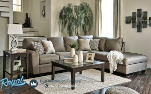 Sofa Ruang Keluarga Kayu Jati Minimalis Elegance