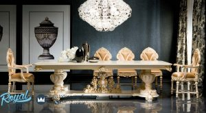 Kursi Meja Makan Luxury Classic Victorian